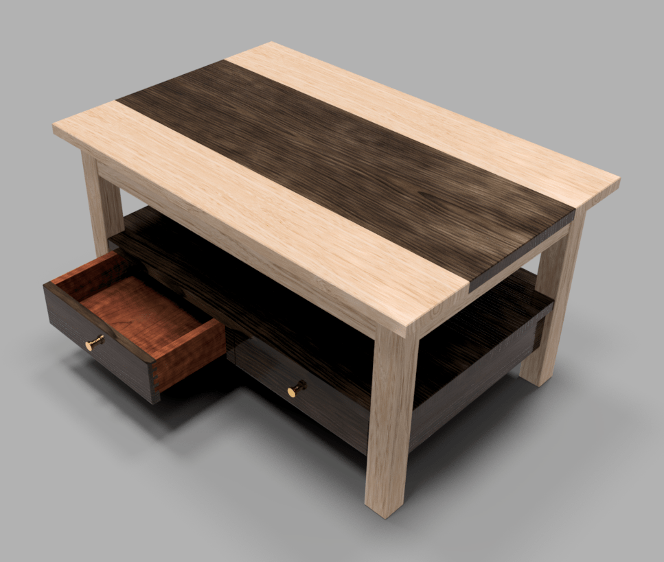 Ash and Black Walnut Coffee Table