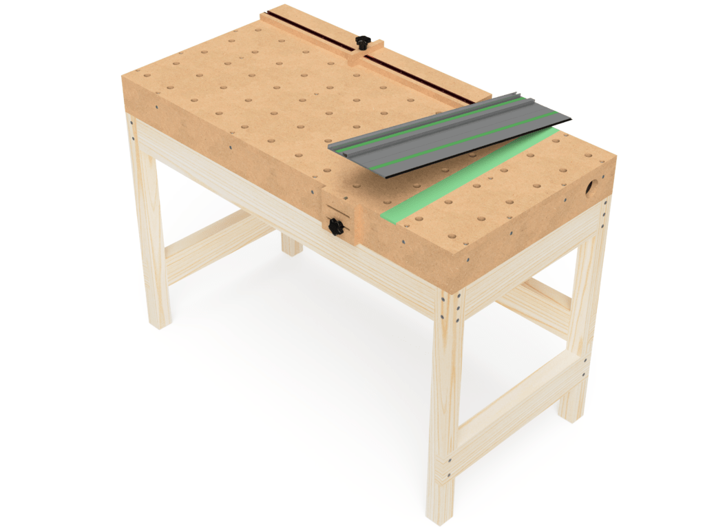 Complete MFT torsion box workbench