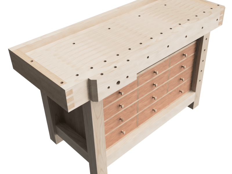 Designing a woodworking workbench