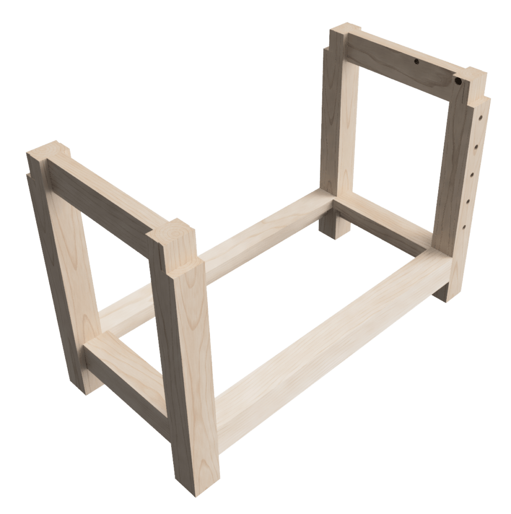 Design of my woodworking workbench base