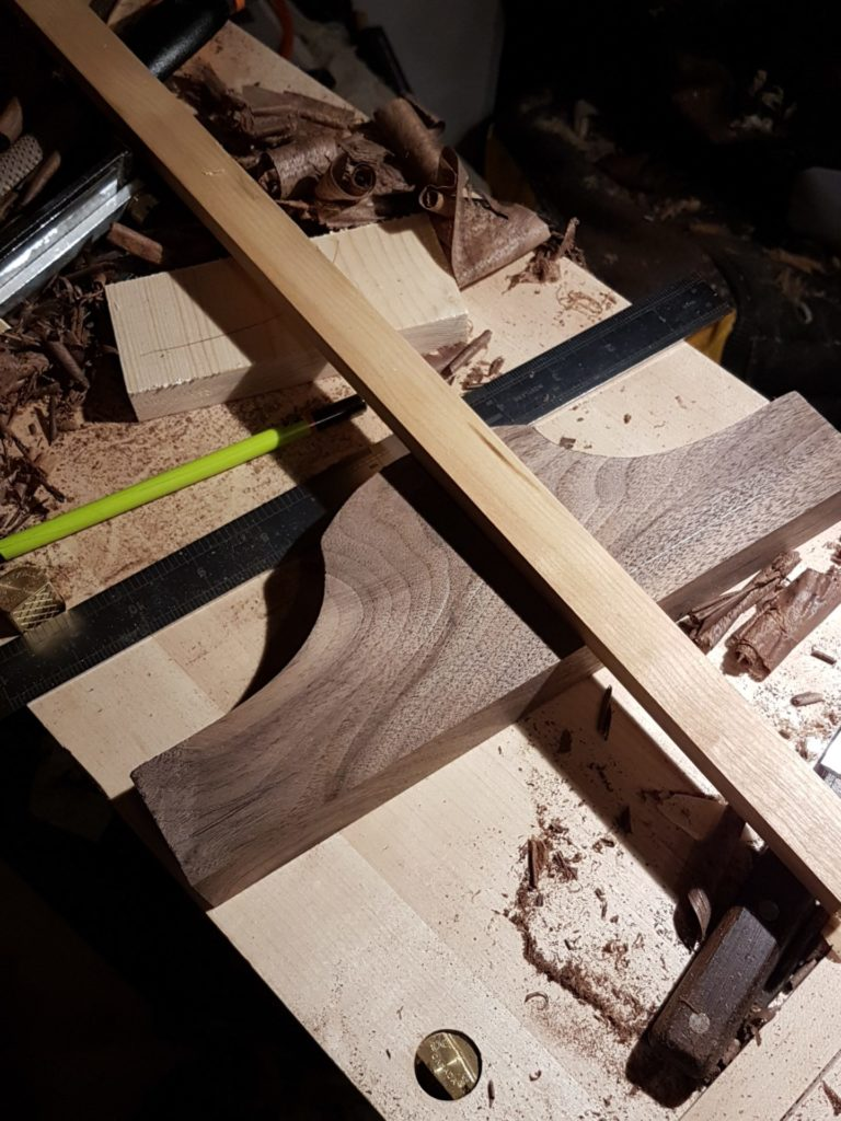 Laying out the mortice in the headstock