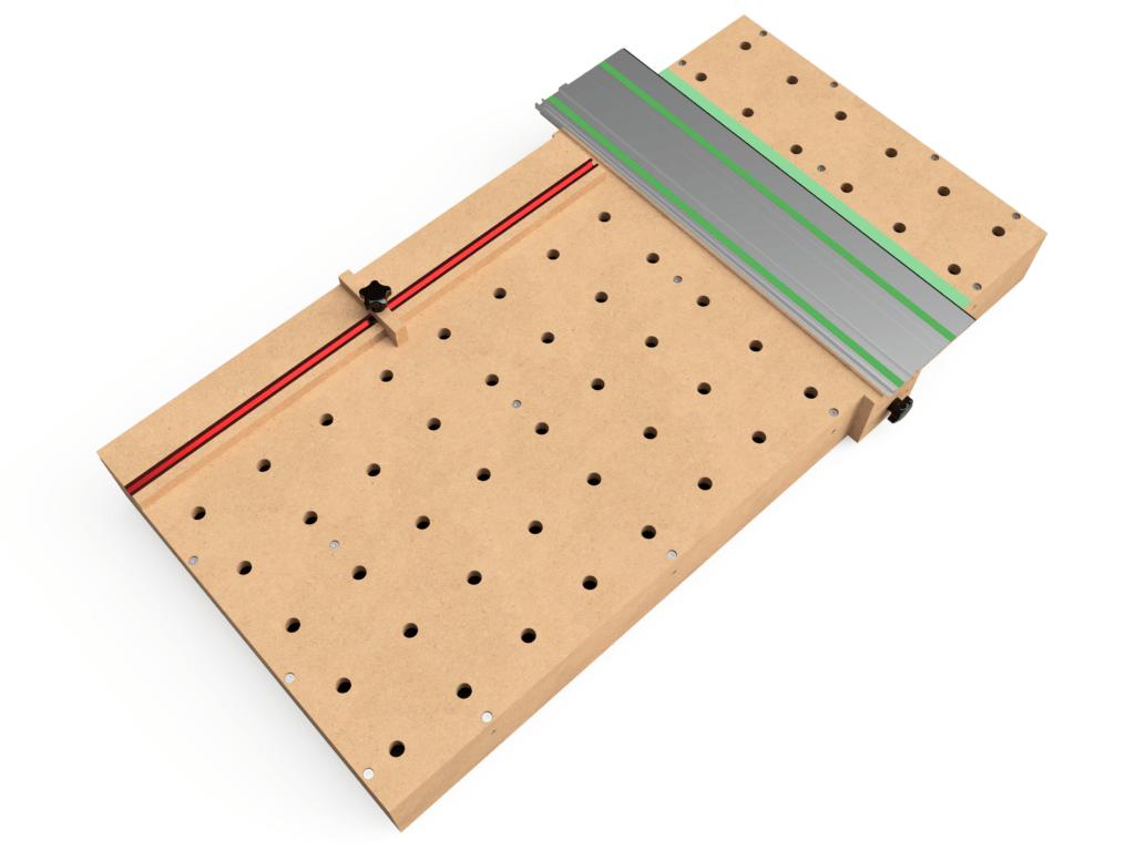 MFT torsion box worktop with accessories